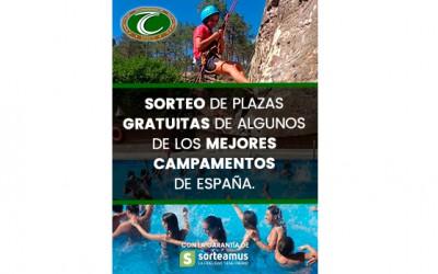 Sorteo de plazas gratuitas en campamentos de verano 2017