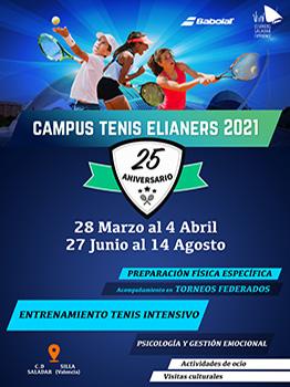 CAMPAMENTO DE TENIS ELIANERS 2021