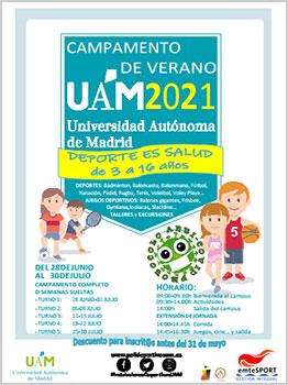 """CAMP DEPORTIVO UNIVERSIDAD AUTÃ""""NOMA DE MADRID 2021"""