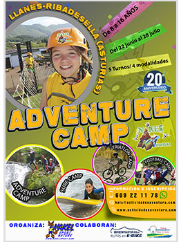 "ADVENTURE, TRIATLÃ""N, SURF Y FOOTBALL CAMPS"
