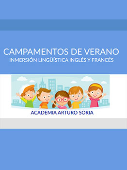 CAMPAMENTO DE INMERSIÓN EN INGLÉS/FRANCÉS 2021