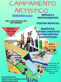 CAMPAMENTOS ART�STICOs ARTSMUS -   2020