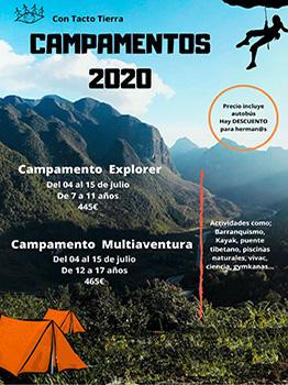 CAMPAMENTOS EXPLORER Y MULTIAVENTURA 2020