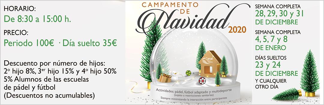 CAMPAMENTO DE NAVIDAD OCIO Y DEPORTE CANAL 2020