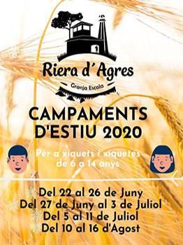 CAMPAMENTOS DE VERANO EN LA RIERA D'AGRES 2020