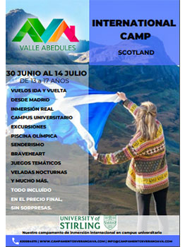 CAMP INTERNACIONAL EN ESCOCIA 2019- VALLE ABEDULES