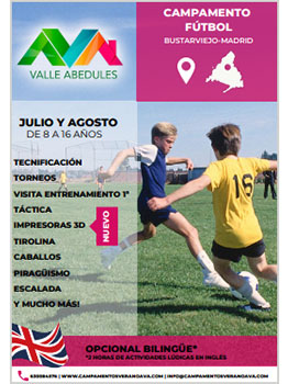 CAMP FUTBOL+ MULTIAVENTURA - VALLE ABEDULES