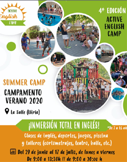 4ª EDICIÓN ACTIVE ENGLISH CAMP
