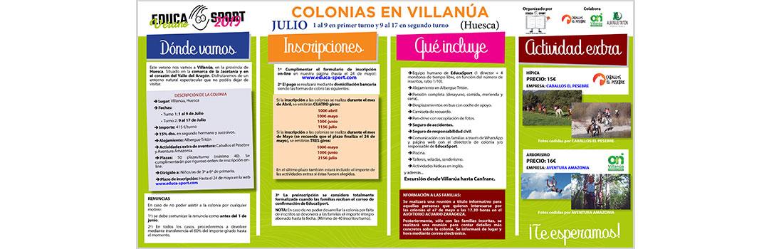 COLONIAS DE VERANO EN VILLANÚA - EDUCA SPORT