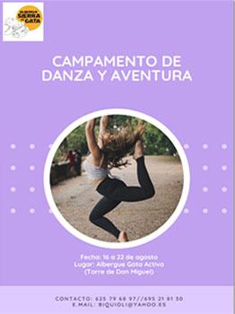CAMPAMENTO DE DANZA Y AVENTURA GATA ACTIVA 2021