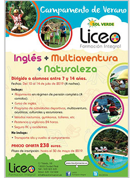 ENGLISH SUMMER CAMP LICEO 2019