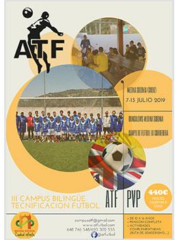 CAMPUS BILINGÃœE TECNIFICACION FUTBOL ATF 2019