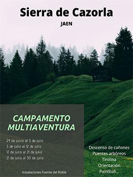 CAMPAMENTO MULTIAVENTURA CAZORLA 2020