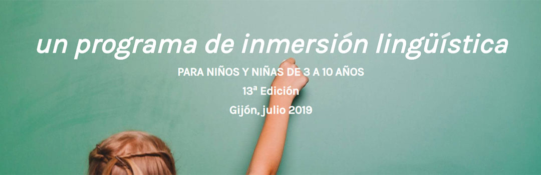 PLAY ENGLISH CAMP - INMERSIÓN EN INGLÉS 2019
