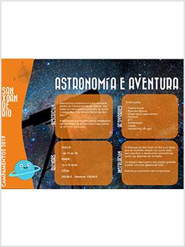 ASTRONOMÍA Y AVENTURA - VIDA LÁCTEA 2019