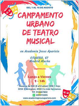 CAMPAMENTO URBANO DE TEATRO MUSICAL